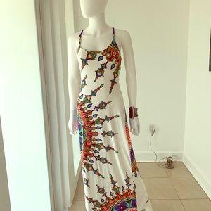 Trina Turk multi print maxi dress